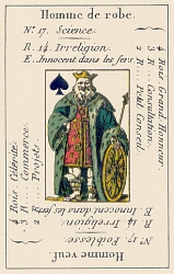 King of Spades from the Petit Etteilla