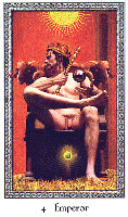 The Emperor from The Cosmic Tribe Tarot