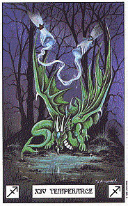 Temperance from The Dragon Tarot