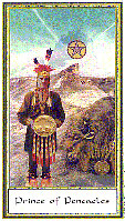 Prince of Pentacles from The Gendron Tarot