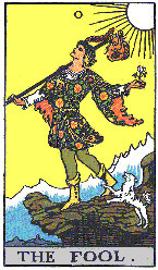 The Fool from The Rider Tarot