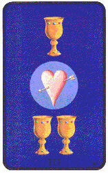 Three of Cups from Tarot of the Witches