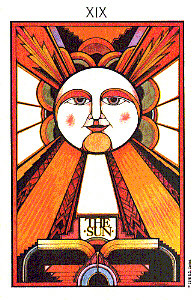 The Sun from The Aquarian Tarot