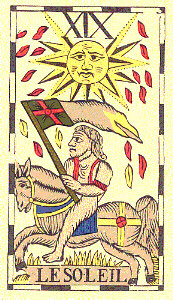 The Sun from Le Tarot Flamand