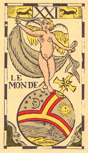 The World from Le Tarot Flamand