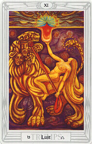 Lust from The Thoth Tarot Deck