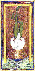 The Hanged Man from the Visconti-Sforza Tarot