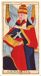 The Papess from the Tarot de Marseille by Conver