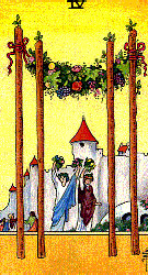 Four of Wands from the Universal Waite Tarot
