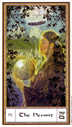 The Hermit from the Gendron Tarot