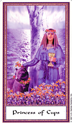 Princess of Cups from The Gendron Tarot