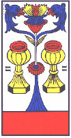 Two of Cups from Ancien Tarot de Marseille