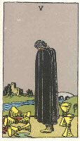 Five of Cups from The Rider Tarot Deck