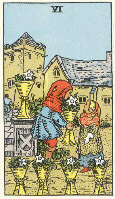 Six of Cups from The Rider Tarot Deck
