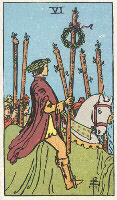 Six of Wands from The Rider Tarot Deck
