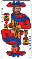 King of Cups from Tarocco Piemontese