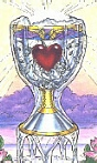 Ace of Cups from the Robin Wood Tarot